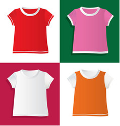 T-shirts and waistcoat vector