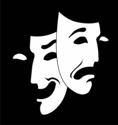 theater mask vector image vector image