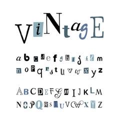 vintage - alphabet vector image