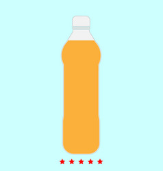 water plastic bottle it is icon vector image