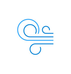 Wind flows concept blue modern outline icon vector