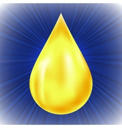 Yellow Oil Drop vector