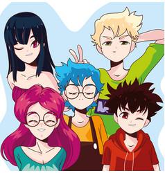 Young people manga vector