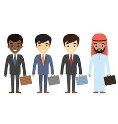 Businessmen characters of different ethnicity in vector image vector image
