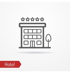 Hotel silhouette icon vector image vector image
