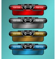 Scoreboard sport object vector