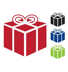 web icon for gift vector image vector image