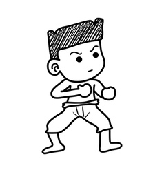 boy fighting vector image vector image