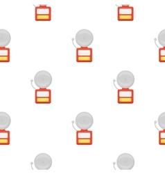 Fire alarm icon cartoon pattern silhouette fire vector image