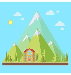 Mountain resort vector image