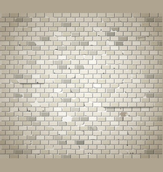Old dirty brick wall background vector image vector image