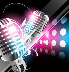 shiny mic vector image