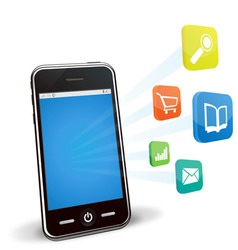 smart phone applications vector image vector image