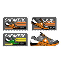 sneakers logotypes vector image