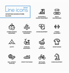 sporting goods store - modern single line vector image