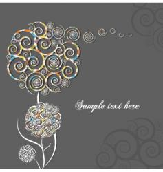 swirl flower vector image