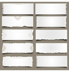 Ten notes paper vector image vector image
