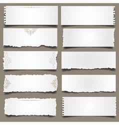 Ten notes paper vector