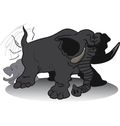 wicked huge elephant vector image vector image