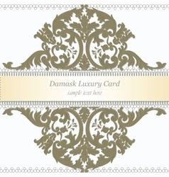 Baroque Luxury Invitation card vector image vector image