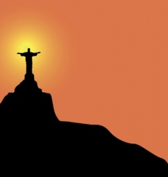Christ the redeemer statue vector image vector image
