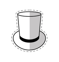 magician hat mystery icon vector image