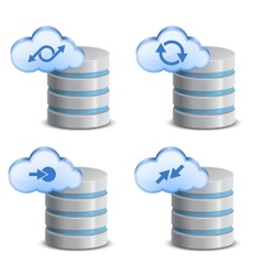 On-line backup service vector image vector image