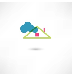 roof and cloud vector image