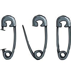 set of safety pins vector image
