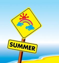 summer symbol vector image vector image