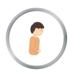 Abdominal pain icon cartoon Single sick icon from vector image