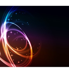 abstract lights background vector image vector image