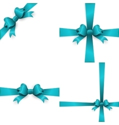 Blue bow isolated on white background EPS 10 vector image vector image