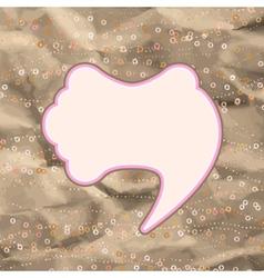 Brown and pink valentine vintage EPS 8 vector image vector image