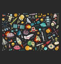 cartoon space vector image vector image