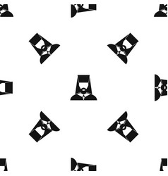 orthodox priest pattern seamless black vector image vector image