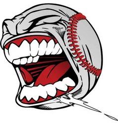 screaming baseball vector image vector image