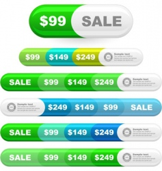 set of sale signs vector image vector image