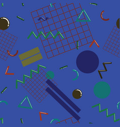 stylish memphis seamless pattern vector image