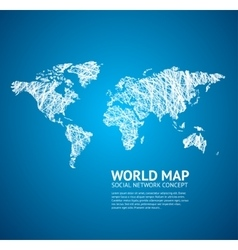 World Map Stylize vector image vector image