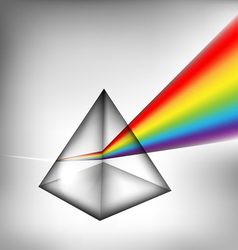 3d prism with light vector