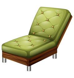 A green elegant chair furniture vector