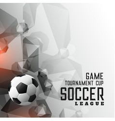abstract soccer tournament league sports vector image