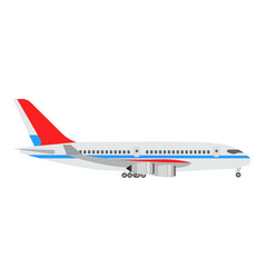airplane concept flat design side view vector image