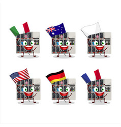 Among us vending machine cartoon character bring vector