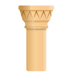 ancient column icon cartoon style vector image