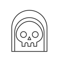 Angel of death under black hood halloween vector