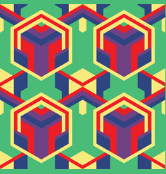 art deco geometric color abstract pattern vector image