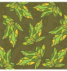 ArtPatternGrennLeaf vector image