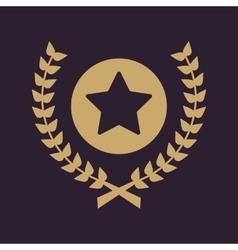 Award icon priz symbol flat vector